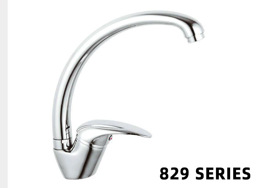 Brass Home Depot Faucets Sink Kitchen Single Handle Chrome Mixer