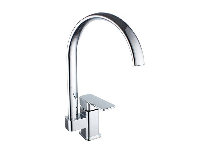 Single Hole Black Kitchen Faucets Stainless Steel Handle Material Pull Down Spray Type