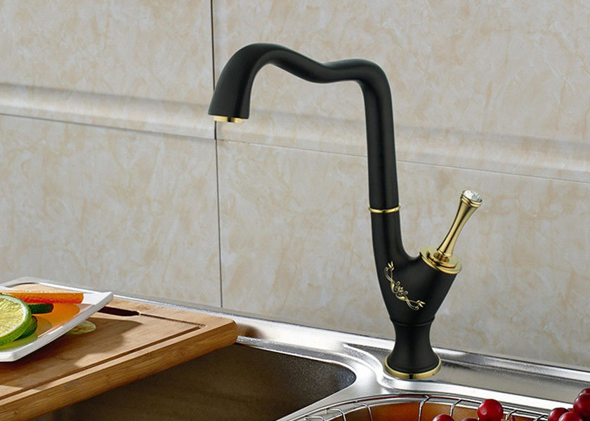Classic Style Bathroom Sink Faucets Black Bathroom Faucets Ceramic Cartridge